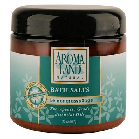 Aromaland Lemongrass & Sage Bath Salts  20oz