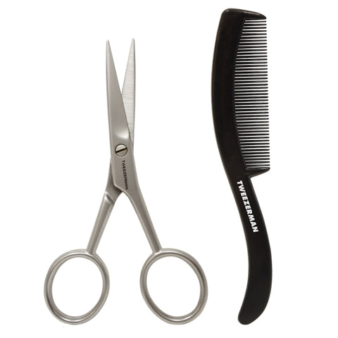 Tweezerman Moustache Scissors & Comb