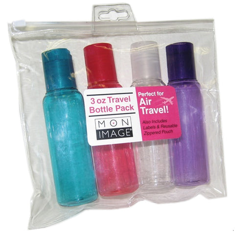 Paris Presents Mon Image 3oz Travel Bottle 4 Pack