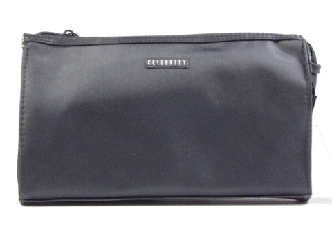 Modella Celebrity Classic Black Travel & Makeup Clutch