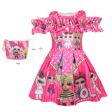 LOL Surprise Doll Off the Shoulder Dress with Matching Bag