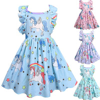 Rainbow Unicorn Dress - Ribbon and Blues