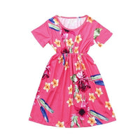 Pink Floral Print Matching Dresses - Ribbon and Blues