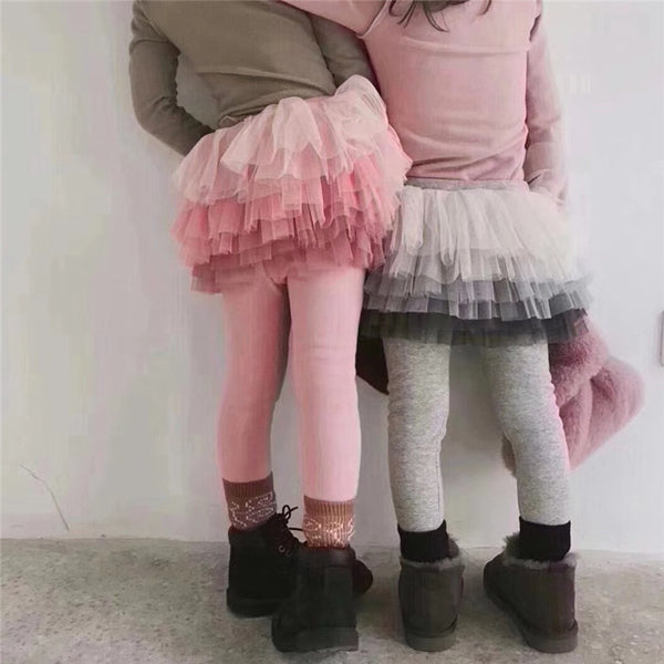 Girls Leggings with Fun Skirt Attached