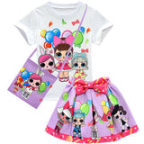 Lol Surprise Doll T-Shirt with Bow Skirt and Bag