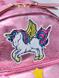 Kids Unicorn Patch Decor Backpack - Ribbon and Blues