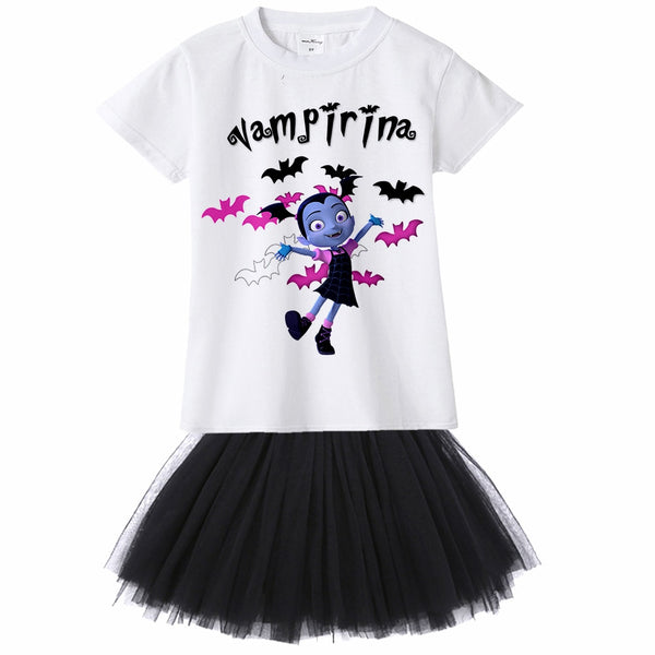 Vampirina T-Shirts and Tutu Skirt - Ribbon and Blues