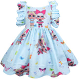 Surprise Dolls Sleeveless Dress - Ribbon and Blues