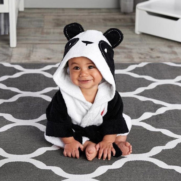 Cute Kids Animal Hooded Bath Robes - Ribbon and Blues