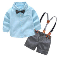 Bow Tie Shirt and Pants - Ribbon and Blues