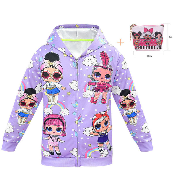 LOL Surprise Doll Hooded Jacket With Bag