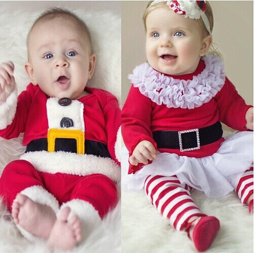 Cute Christmas Outfit for Baby Girls and Boys