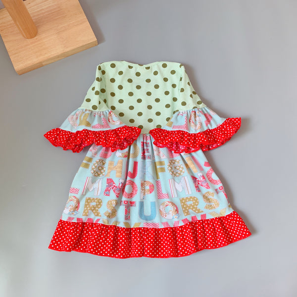 Ruffles with 3/4 sleeves and ABCs