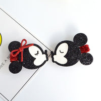 Handmade Minnie Mouse Hair Clips