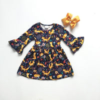 Fox Dress with Matching Bow