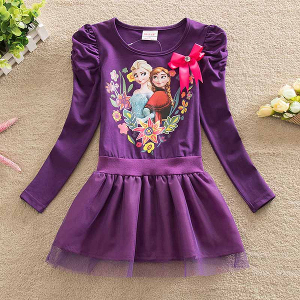 Purple Frozen Party Dress