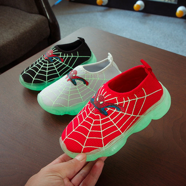 Spiderman Slip-on Light up Shoes