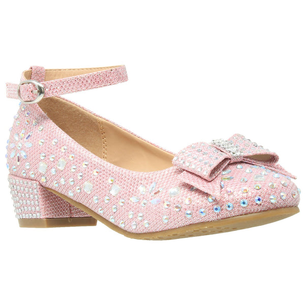 Toddler & Youth Glitter Bow Mary Jane Pump - Ribbon and Blues