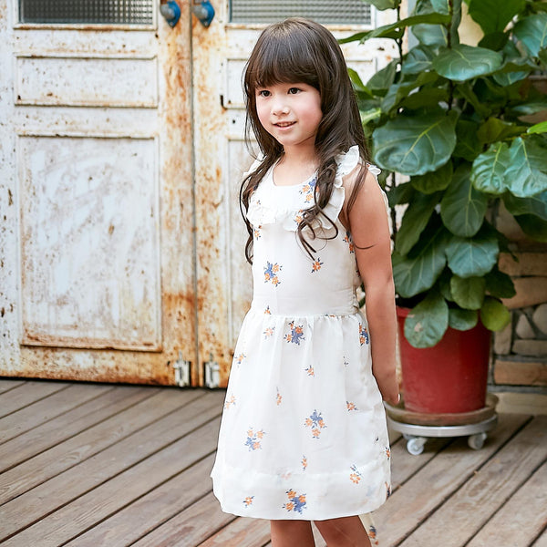 Floral-print ruffled hem fit-n-flare dress - Ribbon and Blues