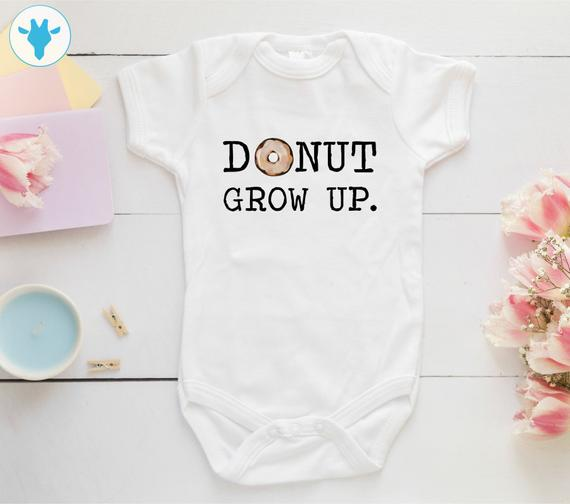 Donut Grow Up Onesie - Ribbon and Blues