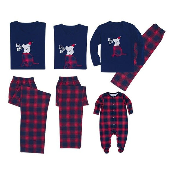 Blue and Red Christmas Family Pajamas