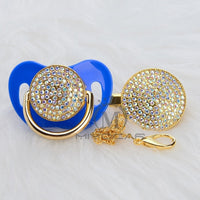 Bling Color Pacifier and Clip