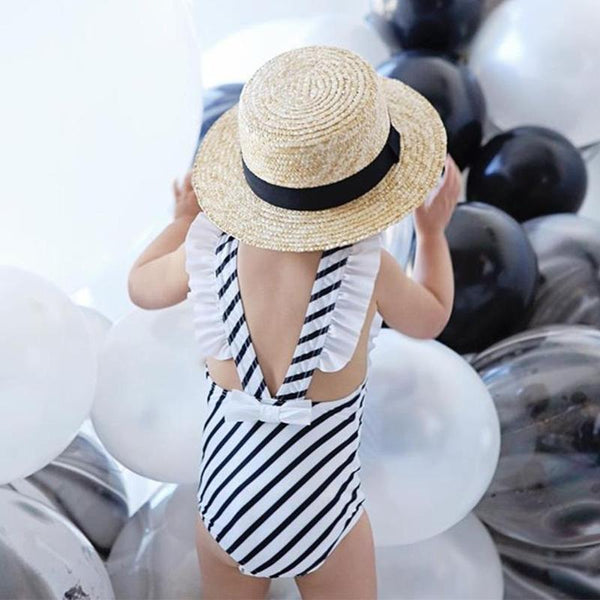 One-Piece Stripe Swimsuit