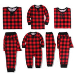 Red and Black Plaid Family Pajama Sets