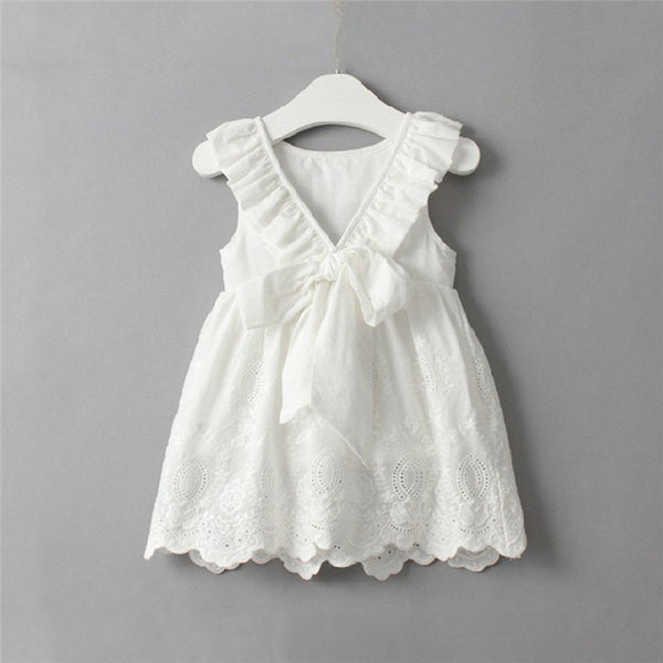 White Lace Dress - Ribbon and Blues