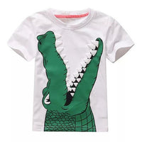 Colorful Crocodile T-Shirt - Ribbon and Blues