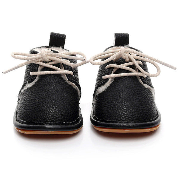 Lace up Soft Sole Shoes - Ribbon and Blues