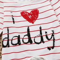 I Love Daddy Pajamas - Ribbon and Blues