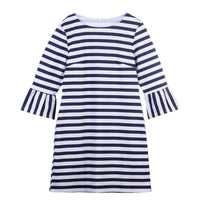 Beach Stripe Mommy and Me Dresses - Ribbon and Blues