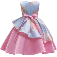 Pink Embroidered Silk Dress - Ribbon and Blues