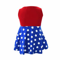 Wonder Woman Girl Dress - Ribbon and Blues