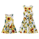 Summer Floral Print Mother Daughter Dresses - Ribbon and Blues