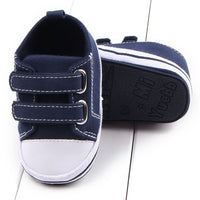 Colorful Canvas Baby Shoes - Ribbon and Blues