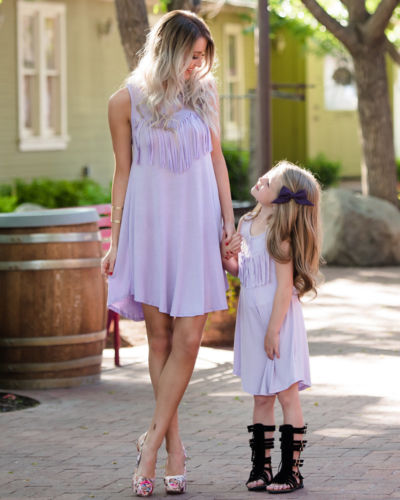 Mother Daughter Sundress With Tassels