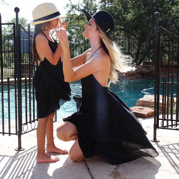 Mommy and Me Backless Halter Dress