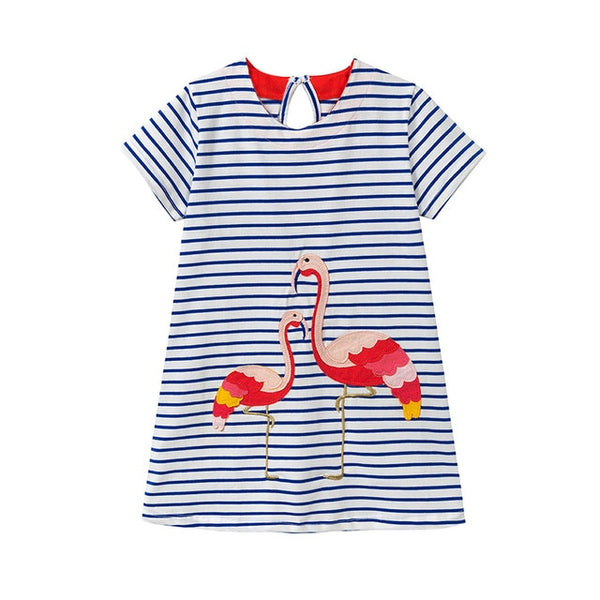 Flamingo Fun Dress - Ribbon and Blues
