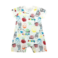 Romper with fun colorful designs