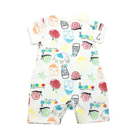 Baby Romper with Sweet Drawings