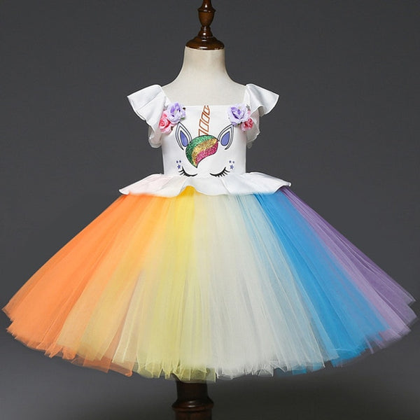 Unicorn Dress - Ribbon and Blues