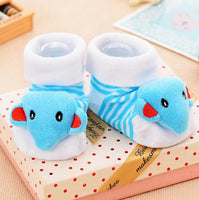 Cotton Baby socks with Rubber Anti Slip Bottoms