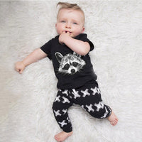 Raccoon Shirt and Pants Set - Ribbon and Blues