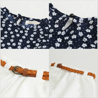 Sleeveless Flower T-shirt with Shorts