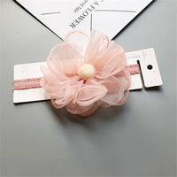 beautiful pink flower head band for girls