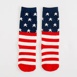 Children Red, White and Blue Socks - Ribbon and Blues