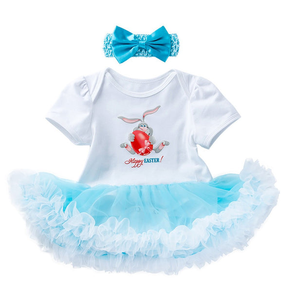 Easter Rabbit Eggs Tutu Dress Outfit - Ribbon and Blues