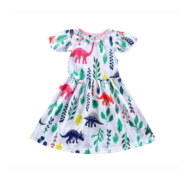 Ruffle Dinosaur Dress - Ribbon and Blues